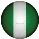 Nigeria Football Flag 25mm Flat Back